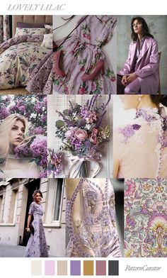 LOVELY LILAC - color, print & pattern trend inspiration for Spring / Summer 2019 by Pattern Curator.Pattern Curator is a trend service for color, print and pattern inspiration. Colour Schemes, Color Trends, Color Patterns, Color Combinations, Color Harmony, Color Balance, Lilac Color, Shades Of Purple, Pinterest Trends