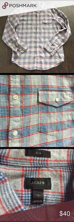 J. Crew flannel Large slim. EUC, no flaws. J. Crew Shirts Casual Button Down Shirts