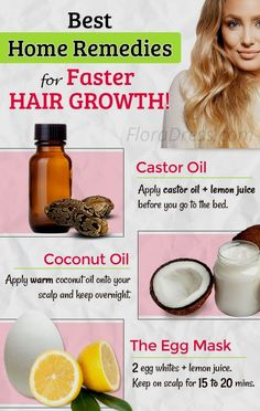 Best Home Remedies for Hair Growth! Best Home Remedies for Hair Growth! Hair Growing Remedies, Hair Remedies For Growth, Home Remedies For Hair, Hair Growth Tips, Hair Loss Remedies, Thinning Hair Remedies, Quick Hair Growth, Hair Mask For Growth, Growing Long Hair Faster