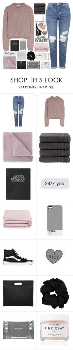 """""""IT'S MY BIRTHDAAAAY"""" by untake-n ❤ liked on Polyvore featuring Topshop, Acne Studios, Martex, Christy, Frette, Pantone, Vans, Bare Cotton, Dermalogica and Herbivore"""