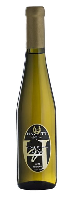 Hazlitt 1852 Vineyards Vidal Ice Wine is decadent and lush, with notes of honey, marmalade and truffle.
