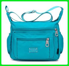 Kecartu Women`s Lightweight Water Resistant Nylon Crossbody Messenger Bag Multi Pockets Small Size Purse - Satchels (*Amazon Partner-Link)