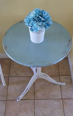 Blue shabby chic www.facebook.com/2ndhomefurnishings Blue Shabby Chic, Chalk Paint, Home Furnishings, Dining Table, Facebook, Furniture, Home Decor, Homemade Home Decor, Dinning Table Set