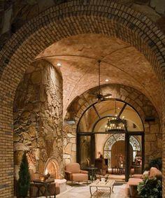 Escala Tuscan Villa is my favorite! (Jauregui Architects, Interiors & Construction: Portfolio of Luxury Custom Homes) Tuscan Design, Tuscan Style, Outdoor Rooms, Outdoor Living, Indoor Outdoor, Architecture Design, Architecture Interiors, Tuscan House, Tuscan Decorating