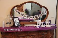 time2partay.com Purple and White Bridal Shower