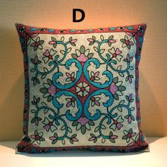 Flower embroidered cushions Chinese style decorative pillows for home