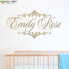 Personalized Baby Name Wall Decal Vinyl Sticker Home Decor - Children Nursery Bedroom Wall Mural Design - Custom Decals
