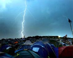 Lightning flashes - Glastonbury 2009
