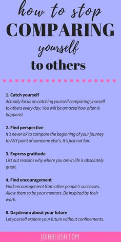 Comparison is a huge side effect of the quarter life crisis. Learn how to focus on yourself and leave others out of it.