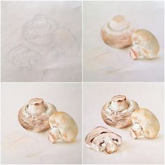 Грибочки поэтапно #пастель #грибочки #иллюстрация #иллюстратор #softpastel #softpastels #illustrator #illustration #artist #mushrooms