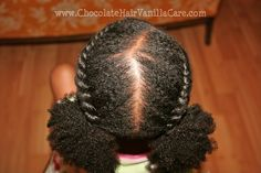 Two Flat Rope Twists with Puffs.