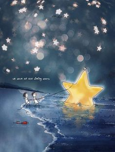 Illustrations Discover We save sinking stars Couple Illustration, Digital Illustration, Dream Illustration, Buddha Doodle, Imagination Art, Broken Crayons, Illustrations, Cute Drawings, Cute Wallpapers