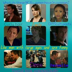 What do these NCIS women have in common? Ziva, Kensi, Sonja Tony, Marty, Christopher Tiva, Densi, Persalle