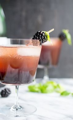 Blackberry Basil Shrub by Taste Love and Nourish