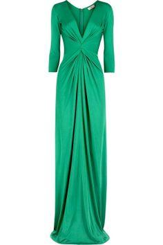beautiful green dress, easy pattern to sew!