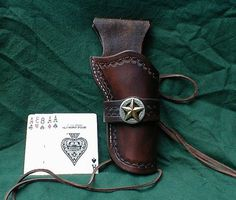 CUSTOM-WESTERN-HOLSTER-BROWN-SINGLE-ACTION-5-5-COWBOY-FAST-DRAW