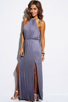 "WHO: Grecian Goddess, Headturner, Beauty QueenWHERE: Day To Night, Shopping, 1st DateWHAT: Double Slit, Racerback, Tie Closure, Elastic Waistband. 95% Rayon, 5% Spandex. Made In USA. Model Is 5'7"", Wearing A Size Small. Size Small Length Approx 60"""