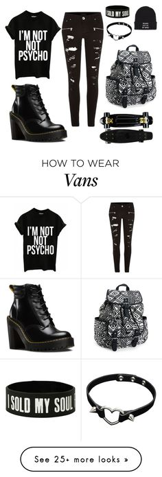 """Untitled #2"" by x-katarina-x on Polyvore featuring River Island, Dr. Martens, Aéropostale and Vans"