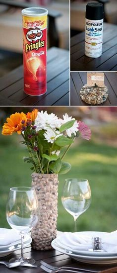 Make A Pretty Vase Out Of Marbles And A Mayo Jar Craft Ideas
