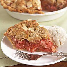Strawberry-Rhubarb Crumble Pie | MyRecipes.com