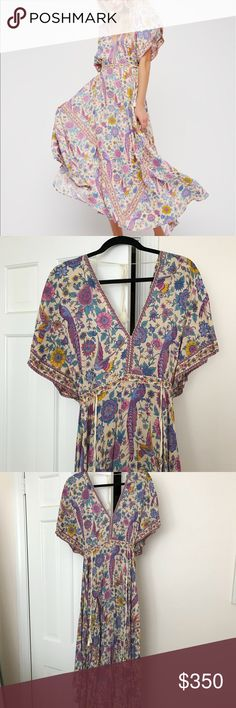 Spell designs lovebird half moon gown Spell and the gypsy collective, spell designs, lovebird half moon gown in chamomile. Boho dress. Flowy, vibrant, gorgeous. Perfect condition, worn once. No stains. Smoke free home. Spell & The Gypsy Collective Dresses Maxi