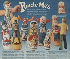 Punch Me's Inflatable Punching Toys from the 70s