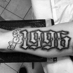 Tattoos for men Number Tattoo Fonts, Tattoo Writing Fonts, Tattoo Lettering Styles, Number Tattoos, Simple Hand Tattoos, Hand Tattoos For Guys, Lion Tattoo Sleeves, Sleeve Tattoos, Forearm Tattoos