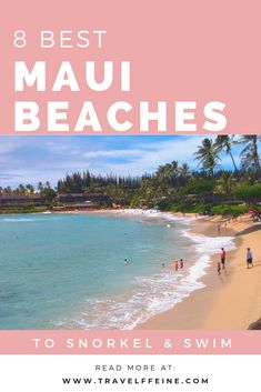 Whether you want to snorkel, swim or both, this list of Maui beaches has you covered! Discover some of the best beaches in Maui for your next Hawaiian vacation! Best Beaches In Maui, Maui Beach, Maui Hawaii, Maui Jim, Trip To Maui, Hawaii Vacation, Beach Vacations, Family Vacations, Vacation Places