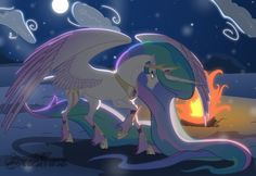 Collab: Winter by the Fire by Sorelstrasz on DeviantArt