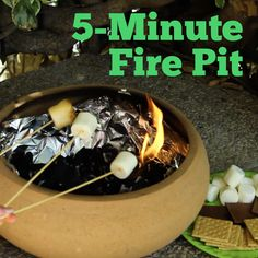Make a portable fire pit in 5 minutes FLAT!