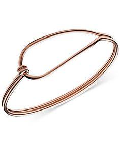 Skagen Annette Rose Gold-Tone Hinged Loop Bracelet - Watches - Jewelry &…