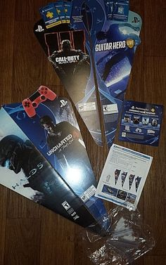 FOUR PLAYSTATION BLADE POSTERBOARD SIGNS COMPLETE WITH TRAY INSERTS & INSTRUCTIO #Sony