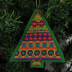 Fair Isle, Cross Stitch Christmas Tree Ornament