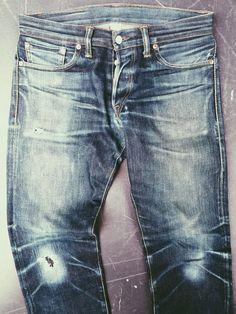 0afdecdf8a25 RRL Low Straight knee repair by Atelier de Nîmes   Tenue de Nîmes Raw Denim,