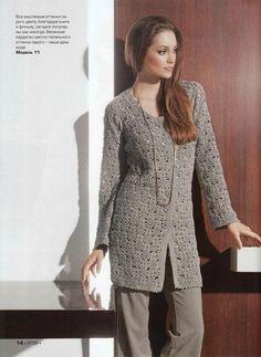 manteau au crochet : je vous propose cette belle veste réalisée au crochet, avec toutes les explications et les diagrammes