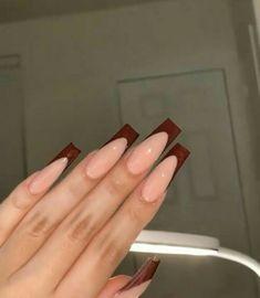 Acrylic Nails Coffin Short, Square Acrylic Nails, Almond Acrylic Nails, Cute Acrylic Nails, Square Nails, Coffin Nails, Les Nails, Nail Mania, Acylic Nails