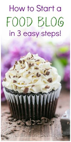 These dark chocolate cupcakes are ultra chocolatey. The chocolate cake portion is dark, rich and decadent but still fluffy. Love at first bite! Best Dessert Recipes, Cupcake Recipes, Fun Desserts, White Chocolate Frosting, Dark Chocolate Cupcakes, Oreo Cupcakes, A Food, Food And Drink, Food Tips