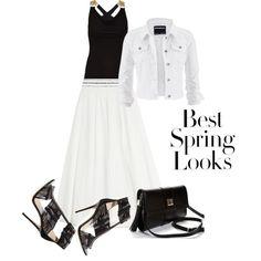 Biało czarna elegancja by skezjablog on Polyvore featuring moda, Morgan, maurices, Vionnet, Jimmy Choo and H&M