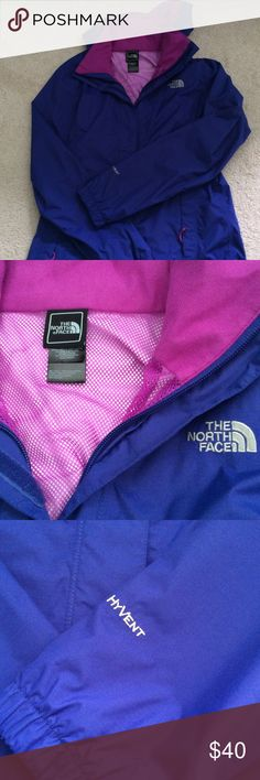 Womens North Face rain jacket Womens small north face rain jacket, in great condition! It's purple. The North Face Jackets & Coats