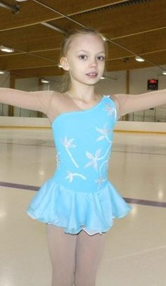 Winter Sports Dynamic Dance Recital Ice Skating Skirted Leotard Dress Shiny Sequins Size Cl