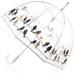 totes Signature Clear Bubble Umbrella (675 UAH) ❤ liked on Polyvore featuring accessories, umbrellas, clear bubble umbrella, clear umbrella and bubble umbrella