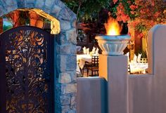 Outside dining at Dahl & Di Luca Ristorante Italiano Sedona Arizona