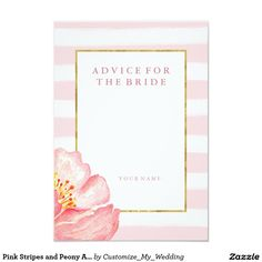 Pink Stripes and Peony Advice for the Bride