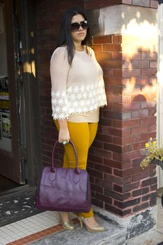 Fall trends with Anna Grace - Mustard & lace