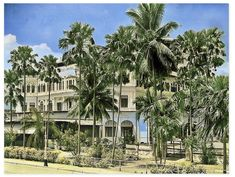 Singapore Travel, Postcard Size, Vintage Postcards, Smudging, House Styles, Wwii, Prints, Hotels
