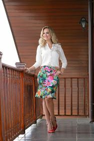 FASHION WORK : #COMBINACIÓNCOLORES: ¡3 COMBINACIONES CON ESTAMPADOS! Casual Fall Outfits, Mom Outfits, Office Outfits, Skirt Outfits, Floral Fashion, Fashion Design, Modelos Fashion, Office Looks, Colourful Outfits