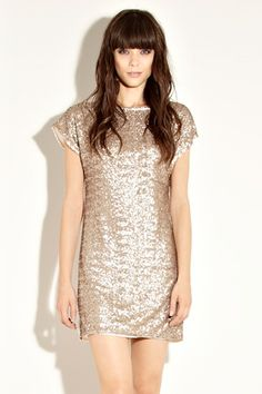 Gold Sequin Dress Gold Sequin Skirt Dress with UsTrendy yammy