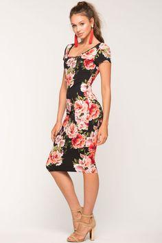 Arora Floral Column Dress