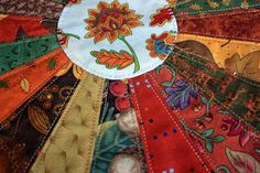Your place to buy and sell all things handmade Dresden Quilt, Dresden Plate, Photo Candles, Plate Design, Flower Applique, Table Toppers, Thanksgiving Table, Fall Harvest, Fall Season