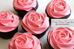 Pink Rose Cupcakes for your Sweet Valentine